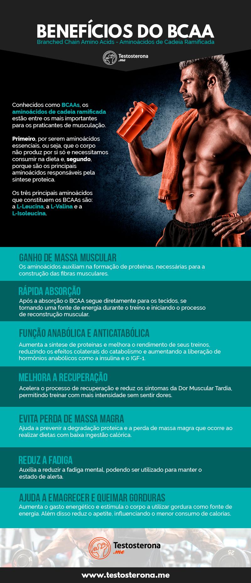 Benefícios BCAA infografico