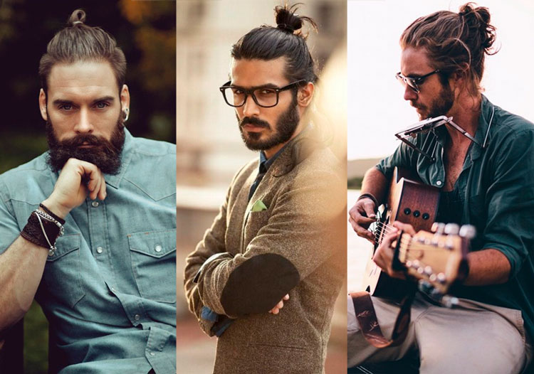 Coque masculino top knot