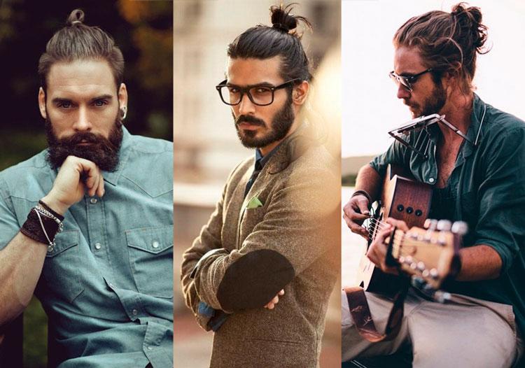 Coque masculino top knot