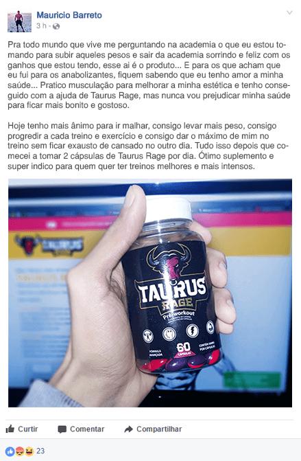 Taurus Rage depoimento