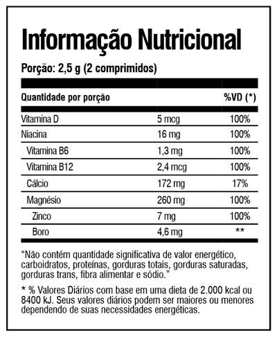 Zeus Extreme Tabela Nutricional