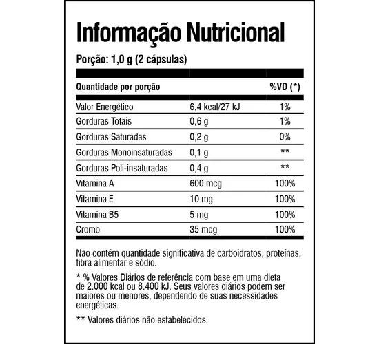 Kimera Woman Tabela Nutricional