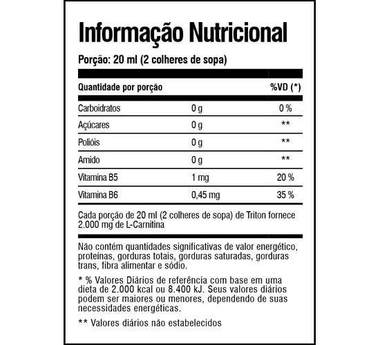 Triton Carnipure Tabela Nutricional